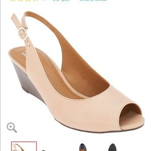Clarks Leather Slingback Wedge - Brielle April